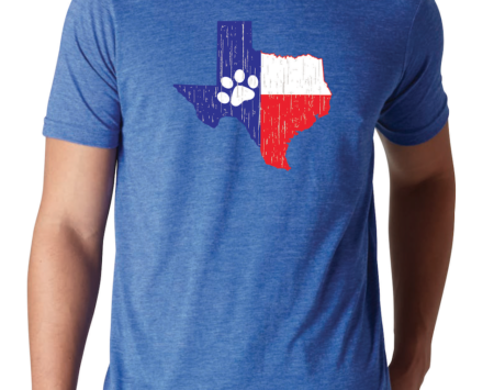 Texas State Paws T-shirt