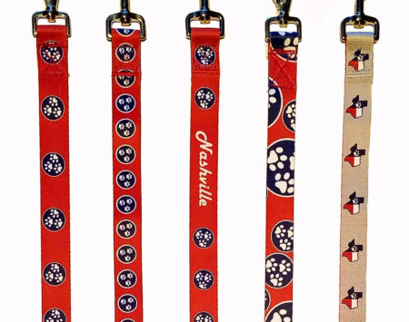 Show the love of your state with our custom state flag leashes replicated with paw prints!